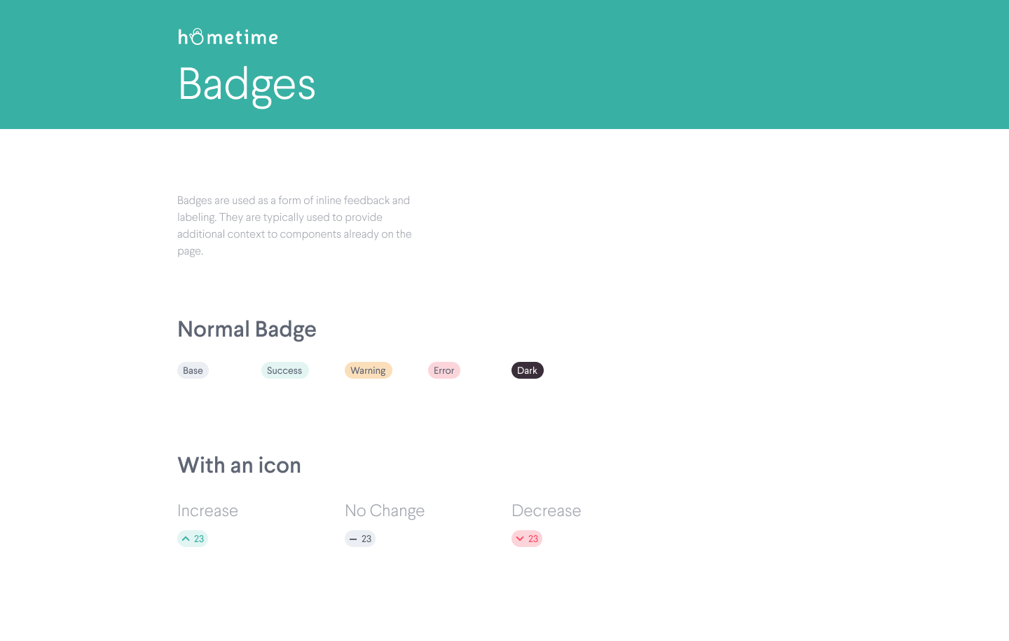 Pattern Library – Badges