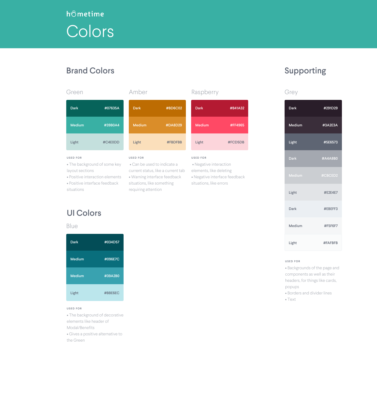 Pattern Library – Colors